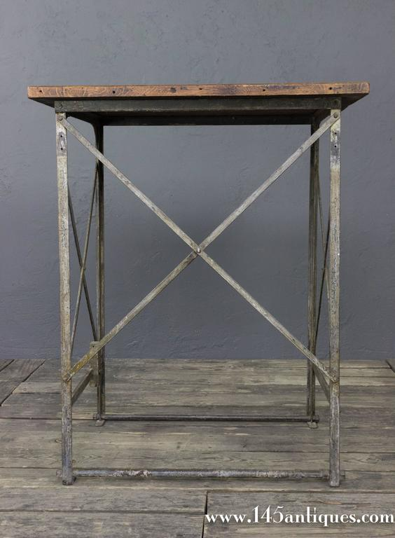 Early 20th Century French Industrial Factory Table For