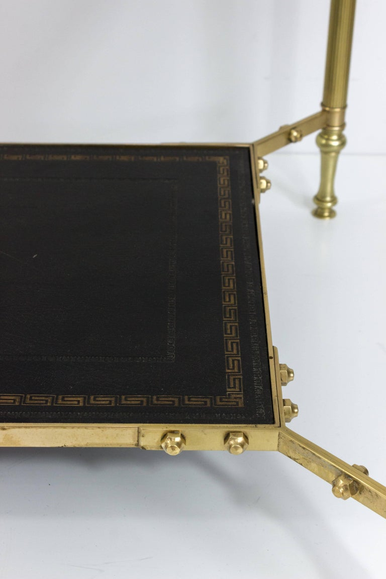 French 1940s Brass Coffee Table in the Style of Maison Jansen For Sale 2