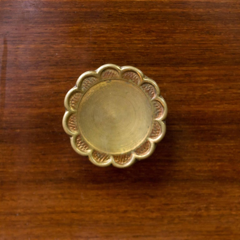 Beveled Rosewood Chest of Drawers with Bronze Mirror For Sale
