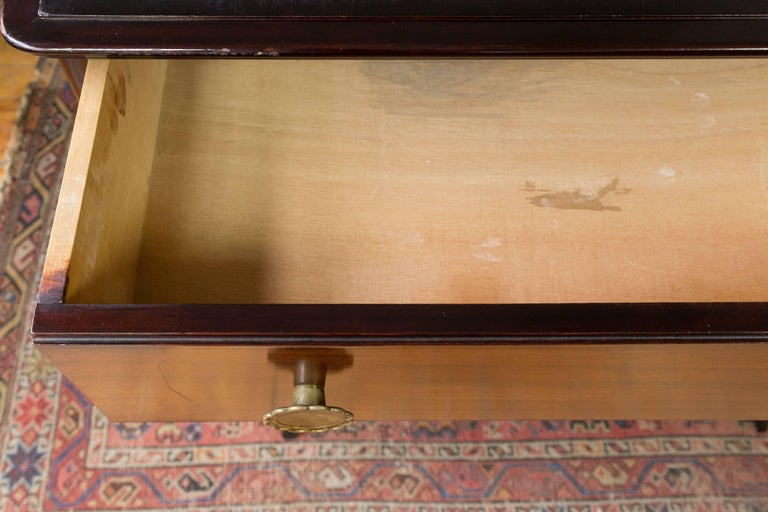 Rosewood Chest of Drawers with Bronze Mirror In Good Condition For Sale In Long Island City, NY