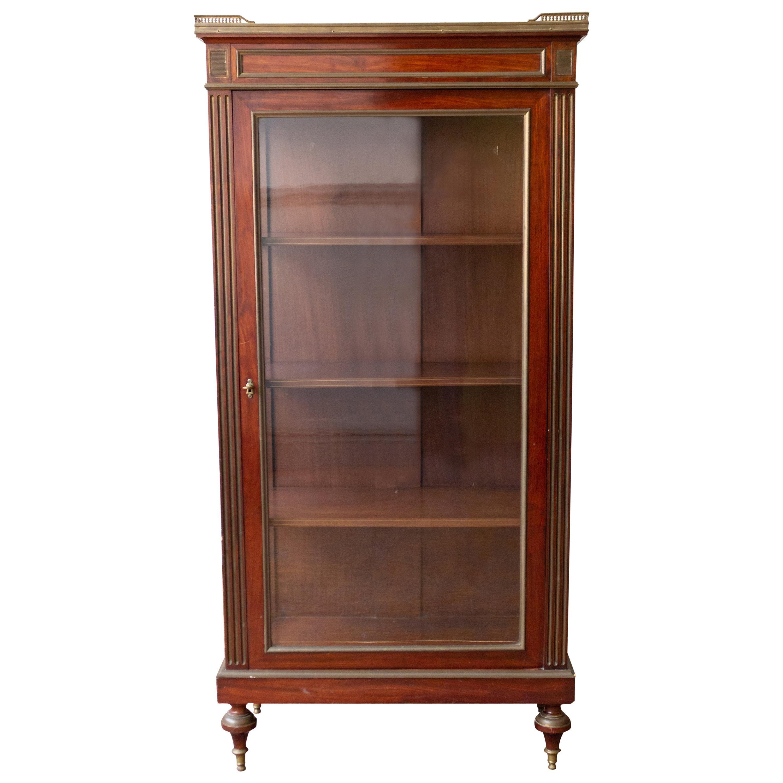 19th Century French Mahogany Display Cabinet
