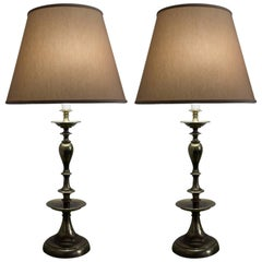 Pair of American Mid-Century Modern Brass Lamps