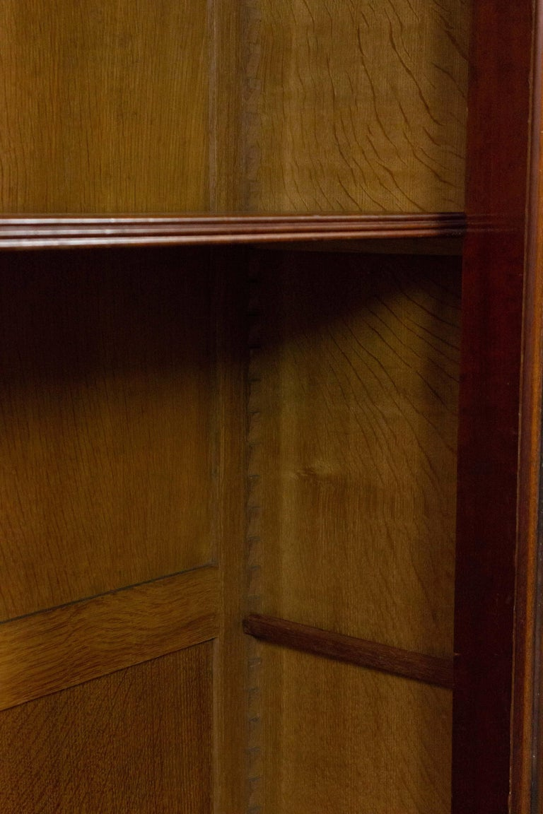 French 19th Century Walnut Bookcase with Original Glass Door For Sale 4
