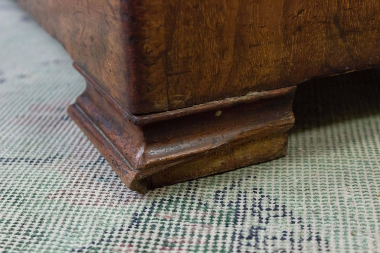 French 19th Century Walnut Bookcase with Original Glass Door For Sale 7