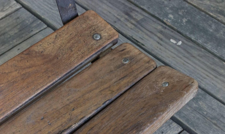 Anglo-Indian Iron and Wood Bench In Good Condition For Sale In Long Island City, NY