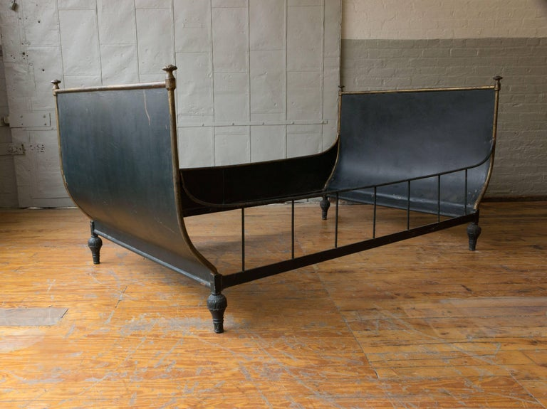 French Neoclassical Style Sleigh Bed 2