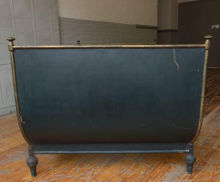 French Neoclassical Style Sleigh Bed 9