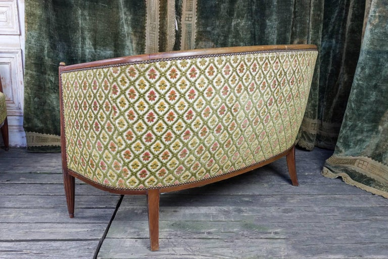 French Art Deco Settee with Curved Back For Sale 1