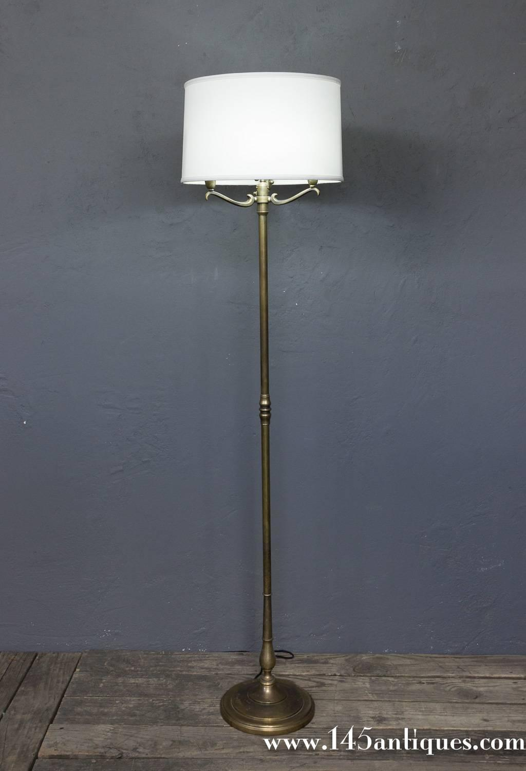 Handsome French Brass 1940 S Floor Lamp For Sale At 1stdibs
