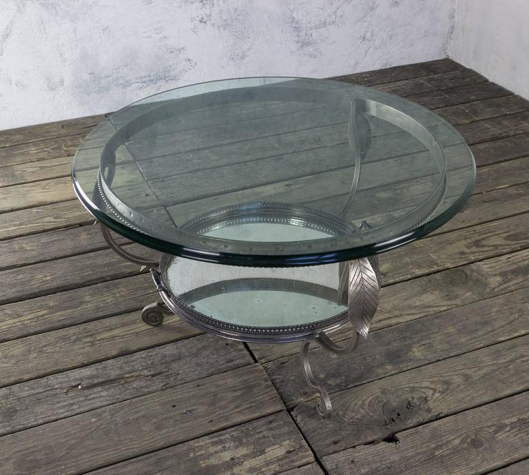 Antique Nickel Coffee Table: Unusual Vintage Coffee Table With Tray For Sale At 1stdibs