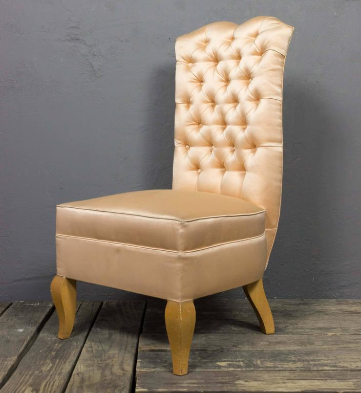 Swell 20Th Century French Tufted Back Slipper Chair Evergreenethics Interior Chair Design Evergreenethicsorg
