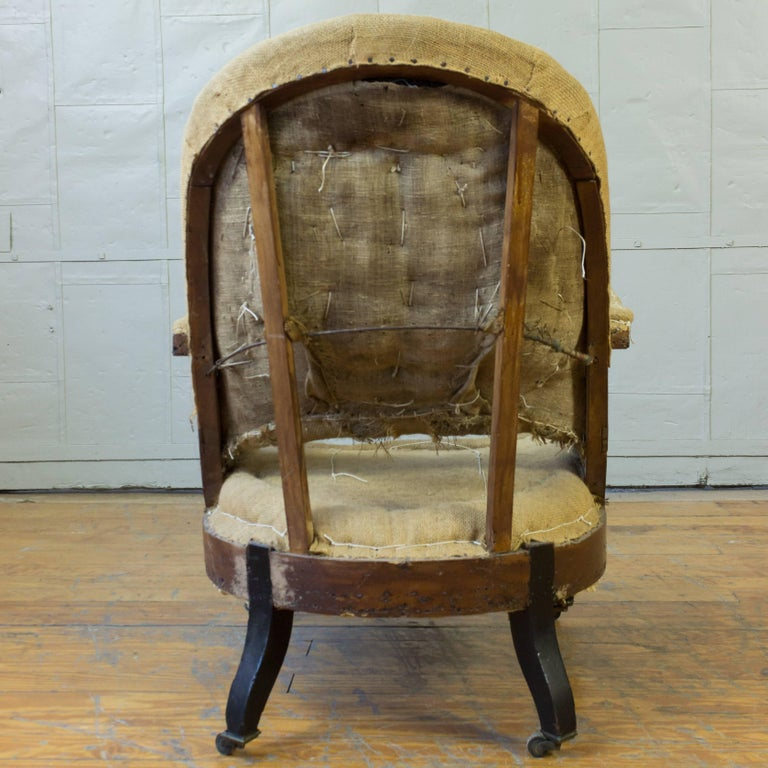 19th Century French Napoleon III Armchair For Sale 3