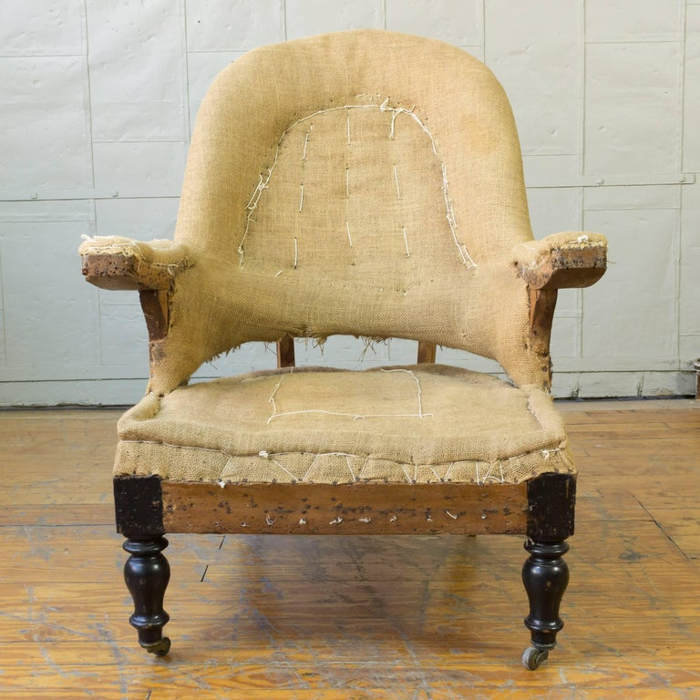 19th Century French Napoleon III Armchair In Good Condition For Sale In Long Island City, NY