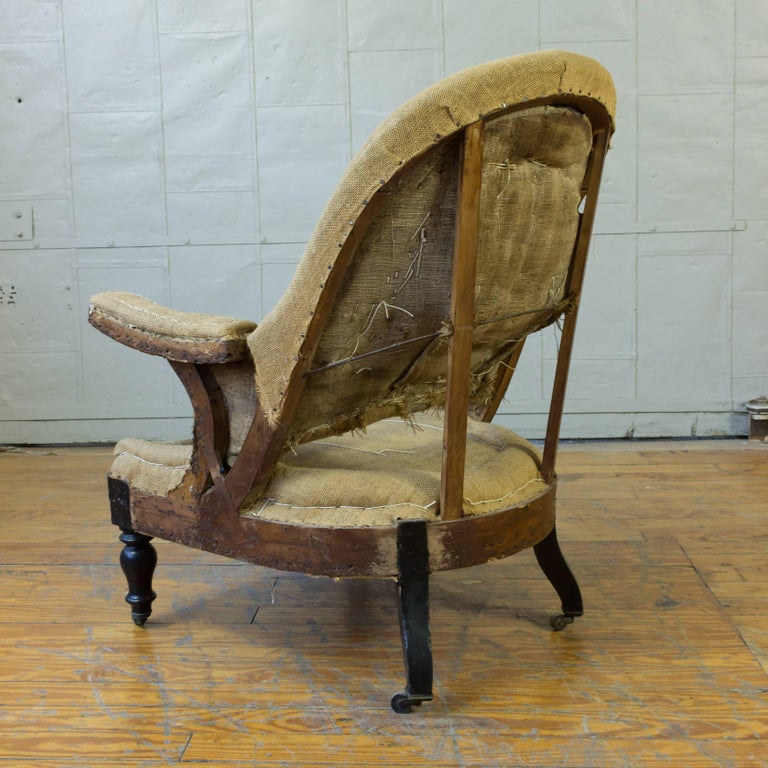 19th Century French Napoleon III Armchair For Sale 4