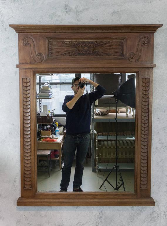 Oversized mantel mirror