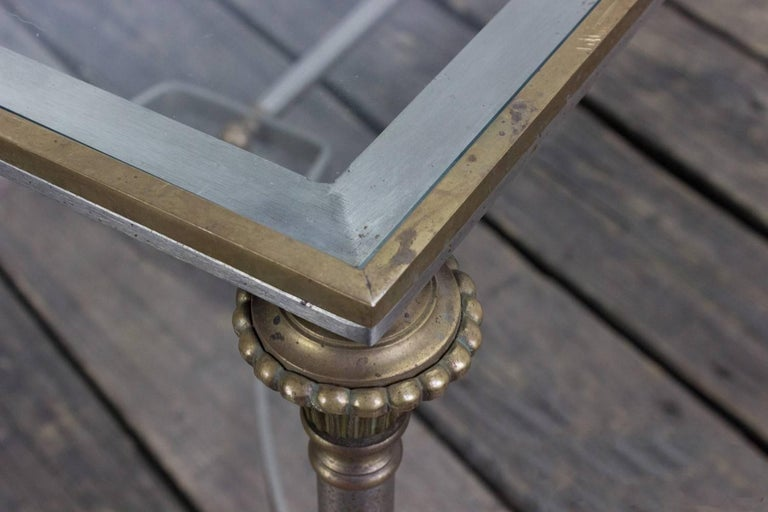 Iron and Brass Coffee Table in the Style of Maison Jansen For Sale 4