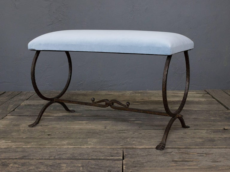 Spanish Wrought Iron Bench For Sale 6
