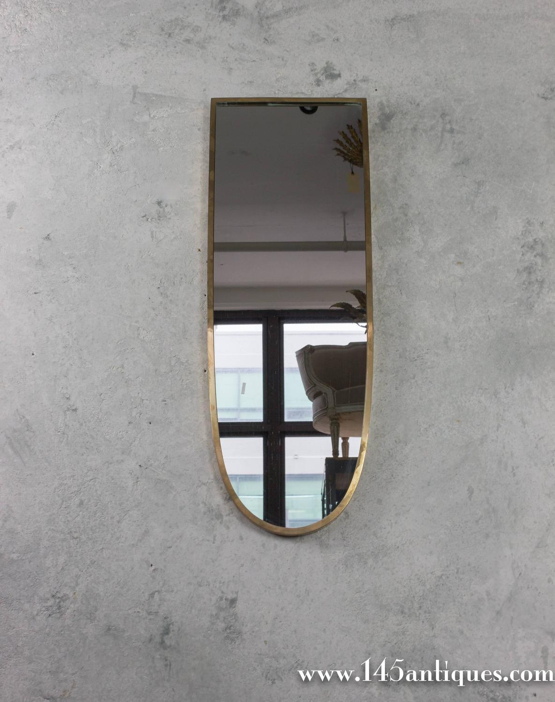 Small mid century modern italian mirror for sale at 1stdibs for Small wall mirrors for sale