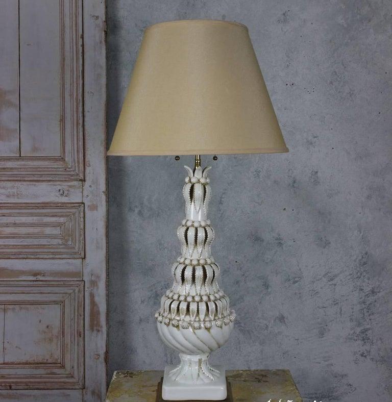 Mid-20th Century Spanish Ceramic Table Lamp For Sale