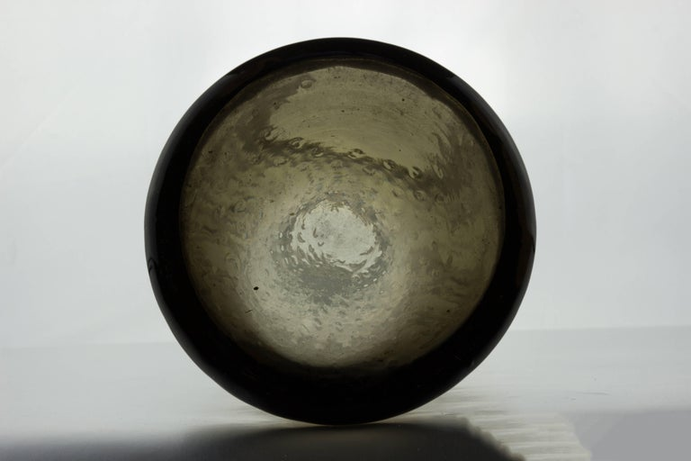 Mid-Century Modern Midcentury Grey Empoli Vase For Sale