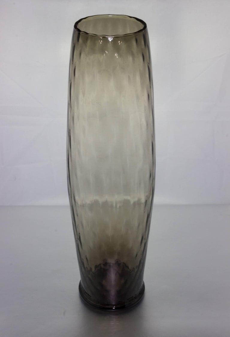 Midcentury Grey Empoli Vase For Sale 2