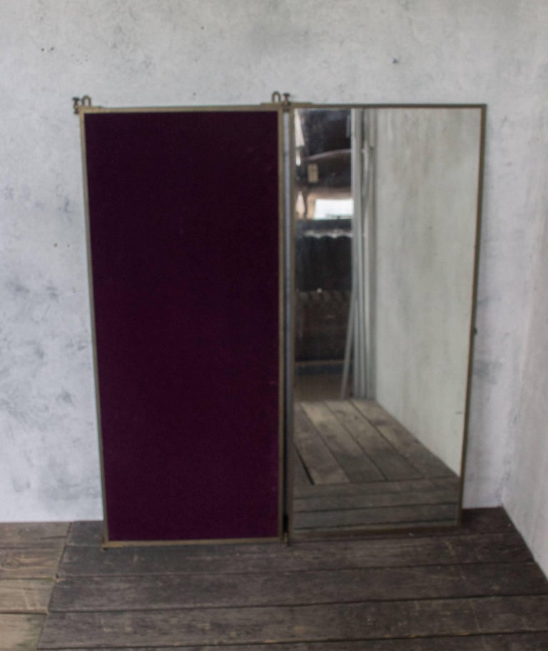 French Brass Brot Dressing Mirror For Sale At 1stdibs