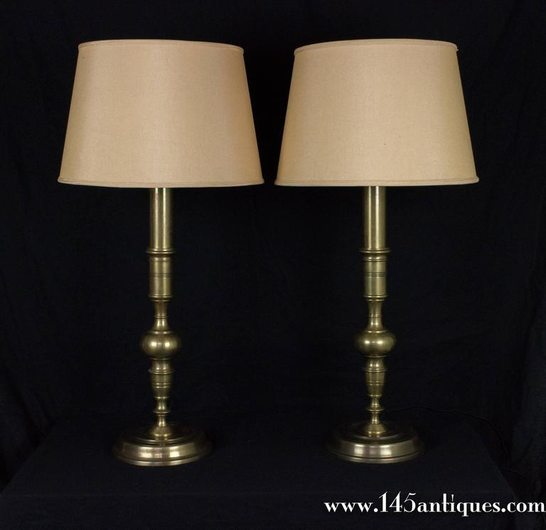 Pair Of French 1940s Bronze Table Lamps For Sale At 1stdibs