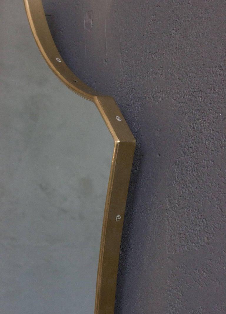 Mid-Century Modern Italian Brass Mirror For Sale 1