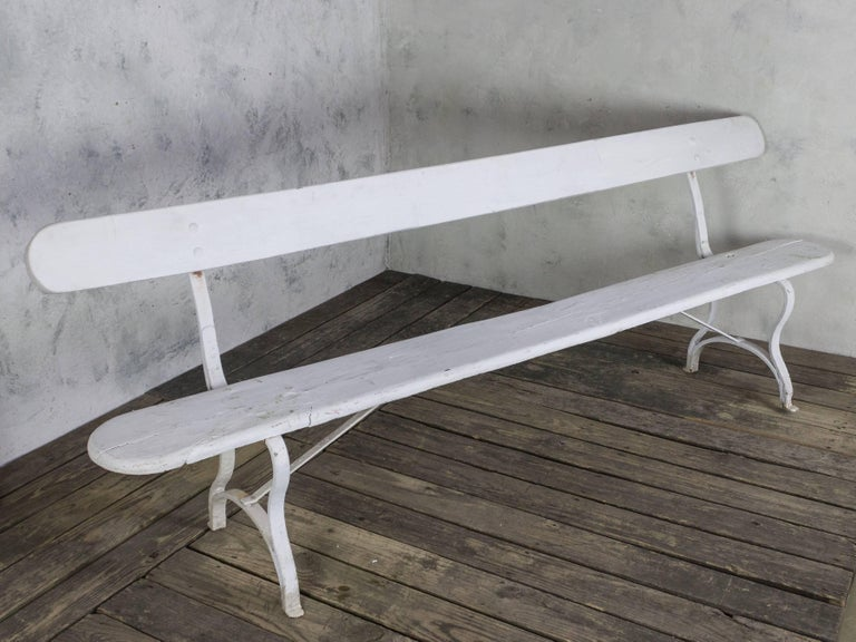 French White Painted Garden Bench For Sale 4