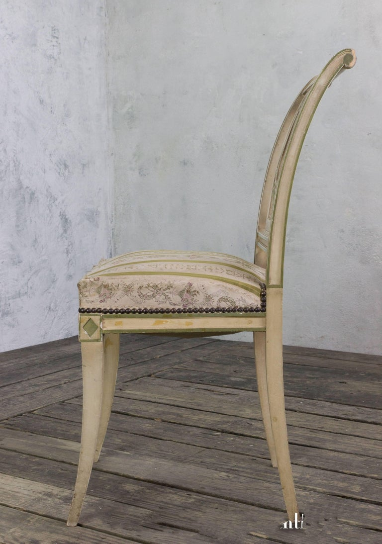 Set of Four French Dining Room Chairs 8