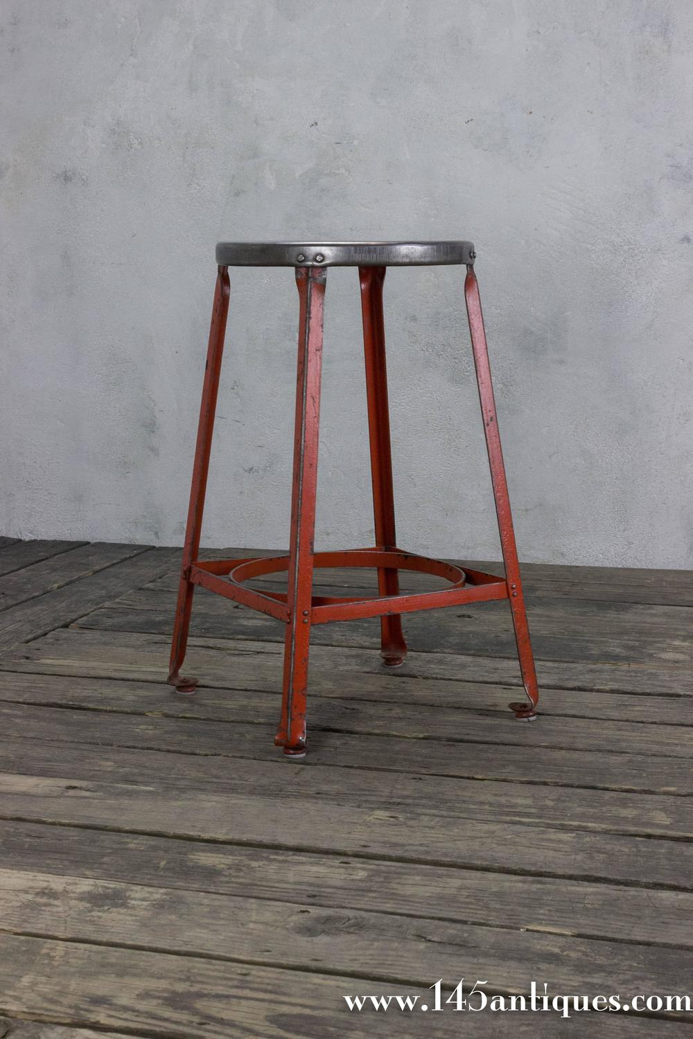 Industrial Stool with Red Legs For Sale at 1stdibs : ST1211042z from www.1stdibs.com size 1000 x 1500 jpeg 172kB