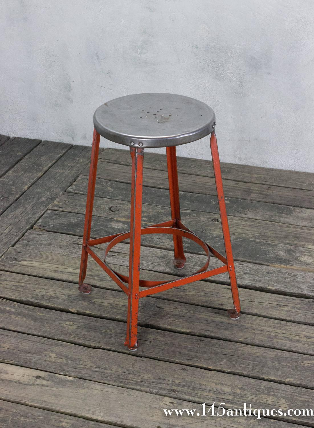 Industrial Stool with Red Legs For Sale at 1stdibs : ST121104z from www.1stdibs.com size 1102 x 1500 jpeg 233kB