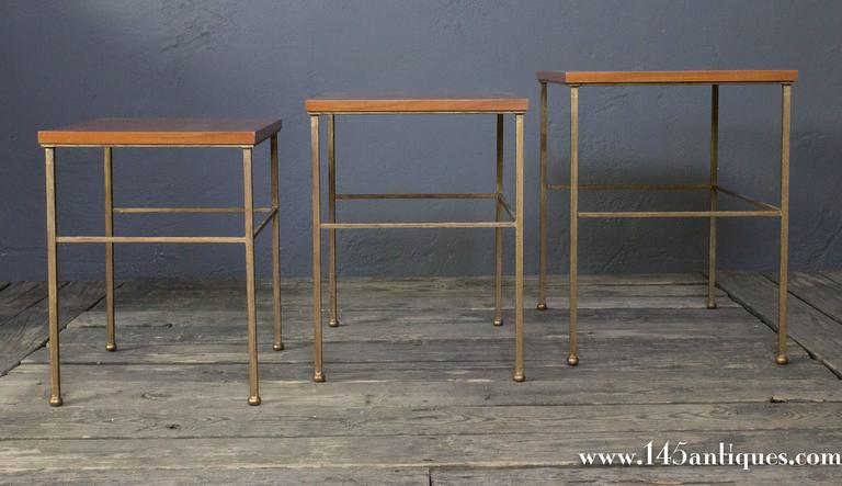 French Set of Three Nesting Tables For Sale