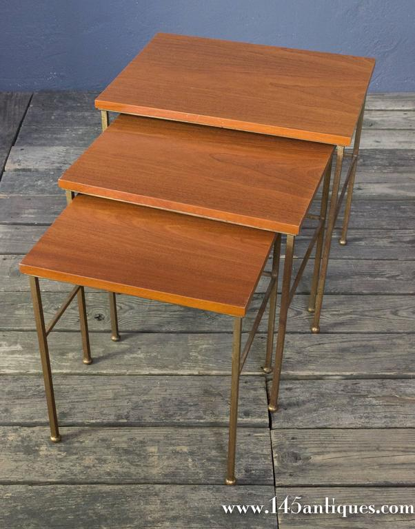 Iron Set of Three Nesting Tables For Sale