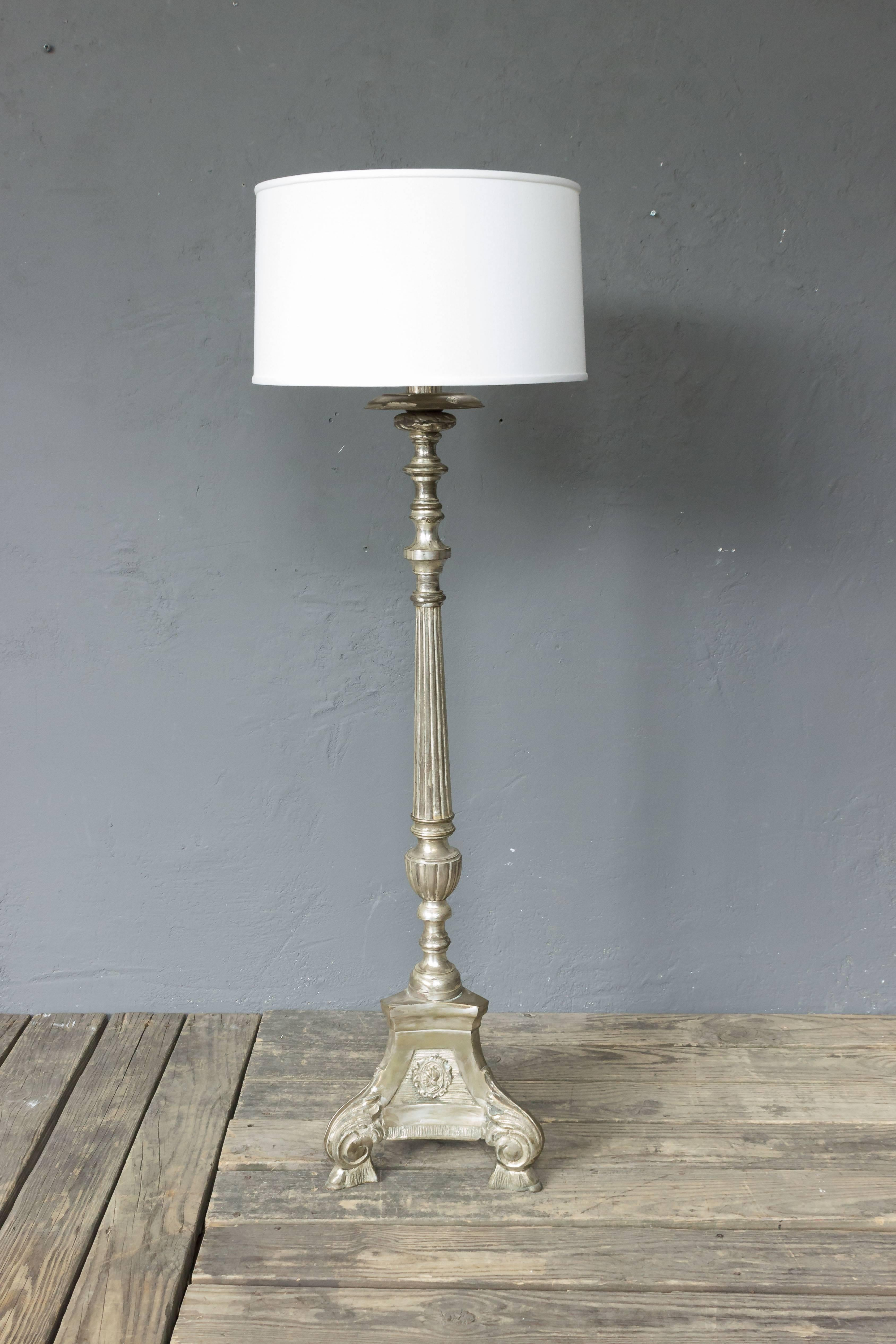Wiring A Lamp In Spain Schematic Diagrams Bedside Spanish Silvered Floor The Baroque Style For Sale At 1stdibs Light Switch