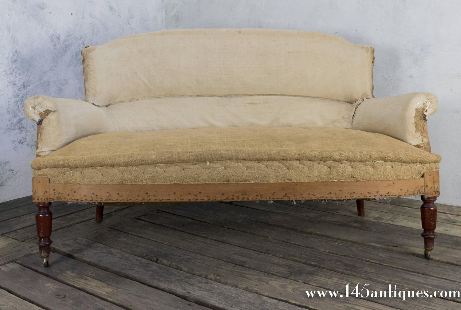 Small French Settee In Muslin At 1stdibs