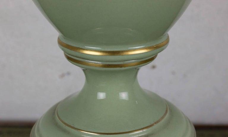 Porcelain Art Nouveau Style Table Lamp For Sale