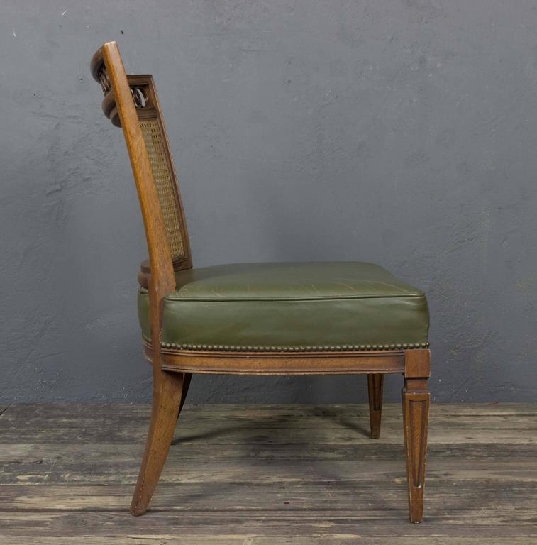 Mid-20th Century Pair of Italian Mid-Century Modern Side Chairs For Sale