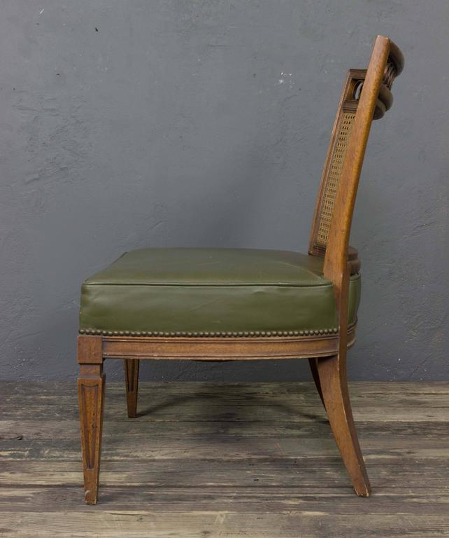 Pair of Italian Mid-Century Modern Side Chairs For Sale 4