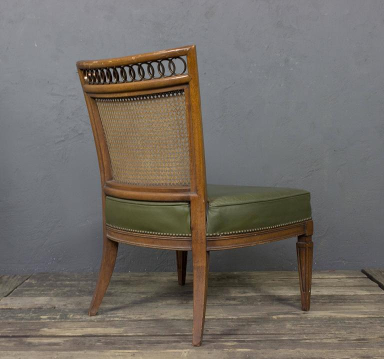 Pair of Italian Mid-Century Modern Side Chairs For Sale 3