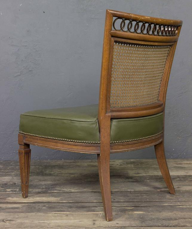 Pair of Italian Mid-Century Modern Side Chairs For Sale 1