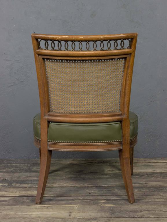 Pair of Italian Mid-Century Modern Side Chairs For Sale 2