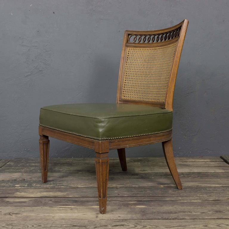 Pair of Italian Mid-Century Modern Side Chairs For Sale 5