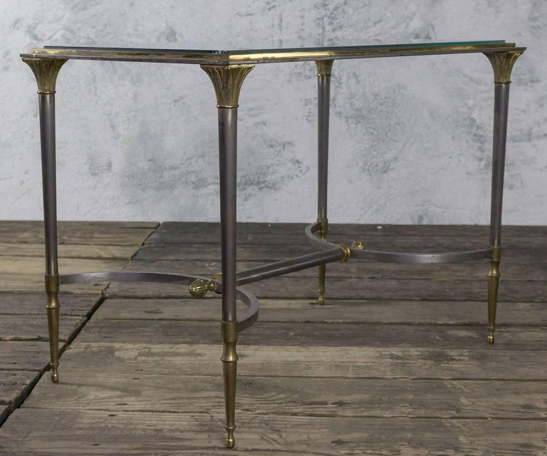 Small Brass And Glass Coffee Tables