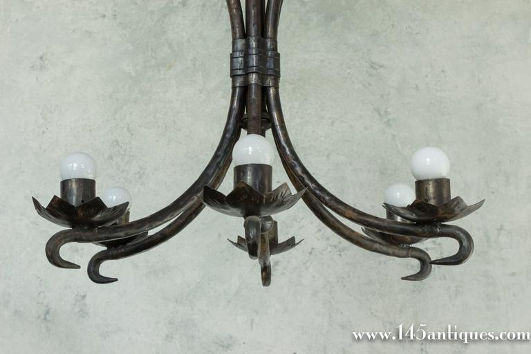 Spanish Wrought Iron Chandelier For Sale 2