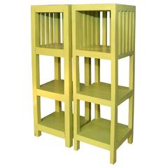 Painted Three-Tiered Etageres in the Style of Mallet-Stevens, French, 1920s
