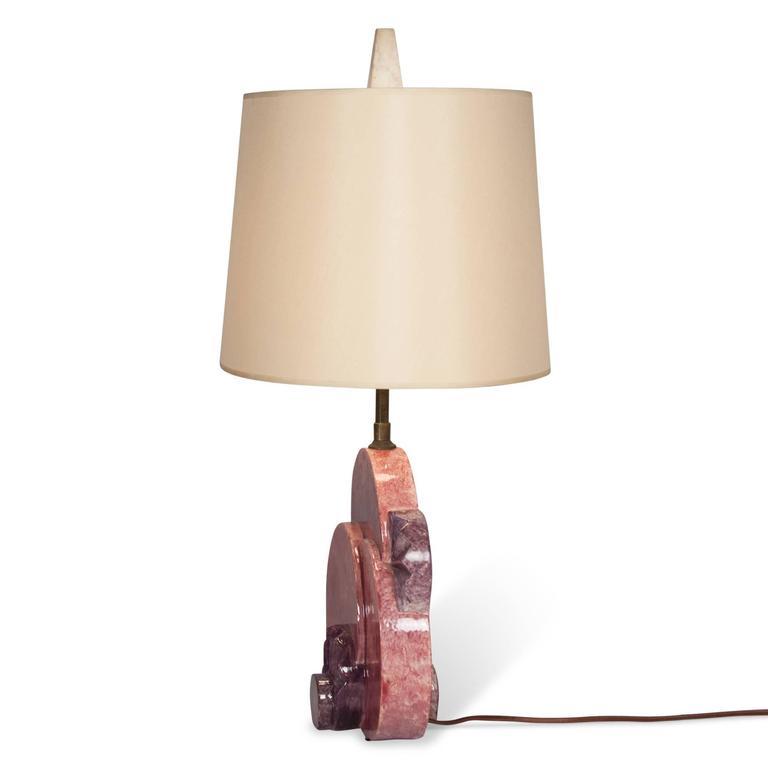 Art Deco Ceramic Table Lamp, French, 1920s 4