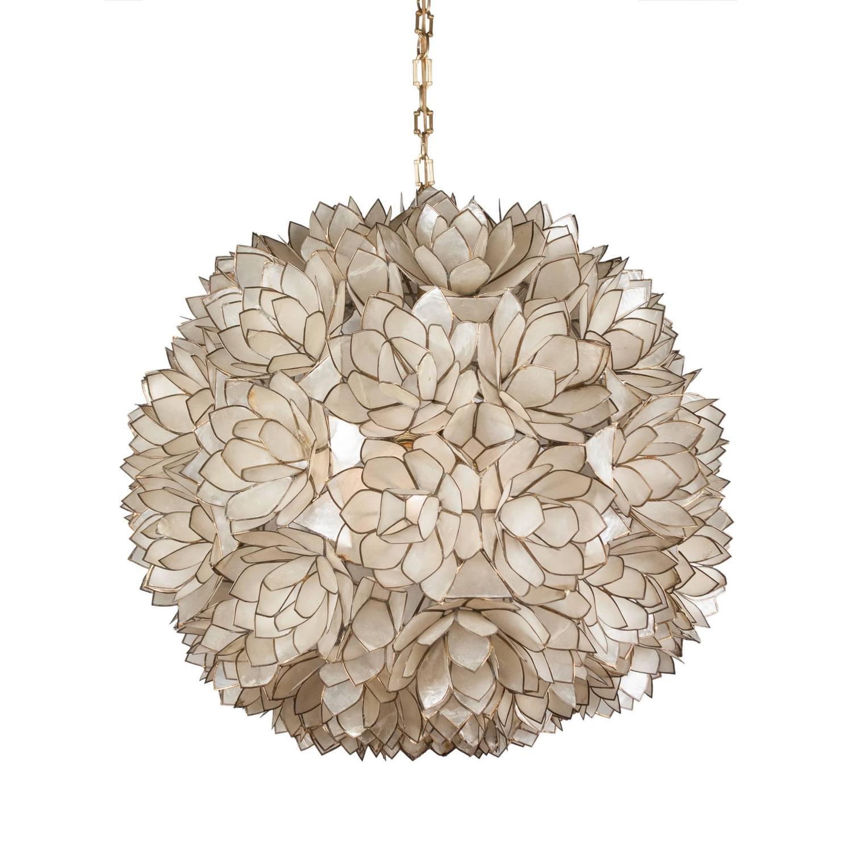 globe capiz shell chandelier french 1960s for sale at. Black Bedroom Furniture Sets. Home Design Ideas