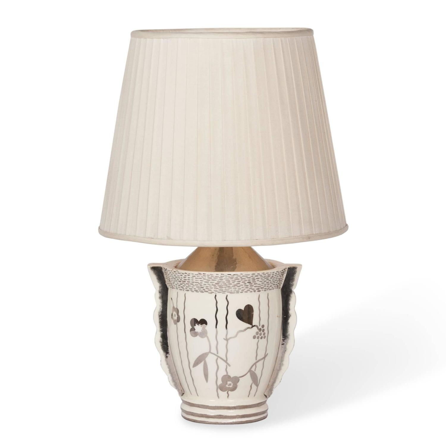 Porcelain Table Lamp By Primavera French 1930s At 1stdibs