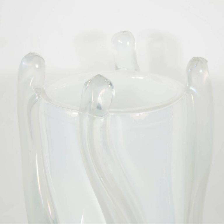 Mid-Century Modern Iridescent Murano Glass Vase by Pino Signoretto For Sale